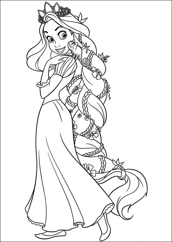 Princesa Rapunzel Para Colorir Desenhos Para Pintar Da