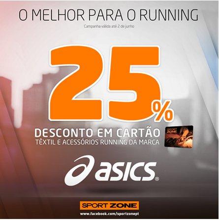 25% de desconto | SPORT ZONE | Asics