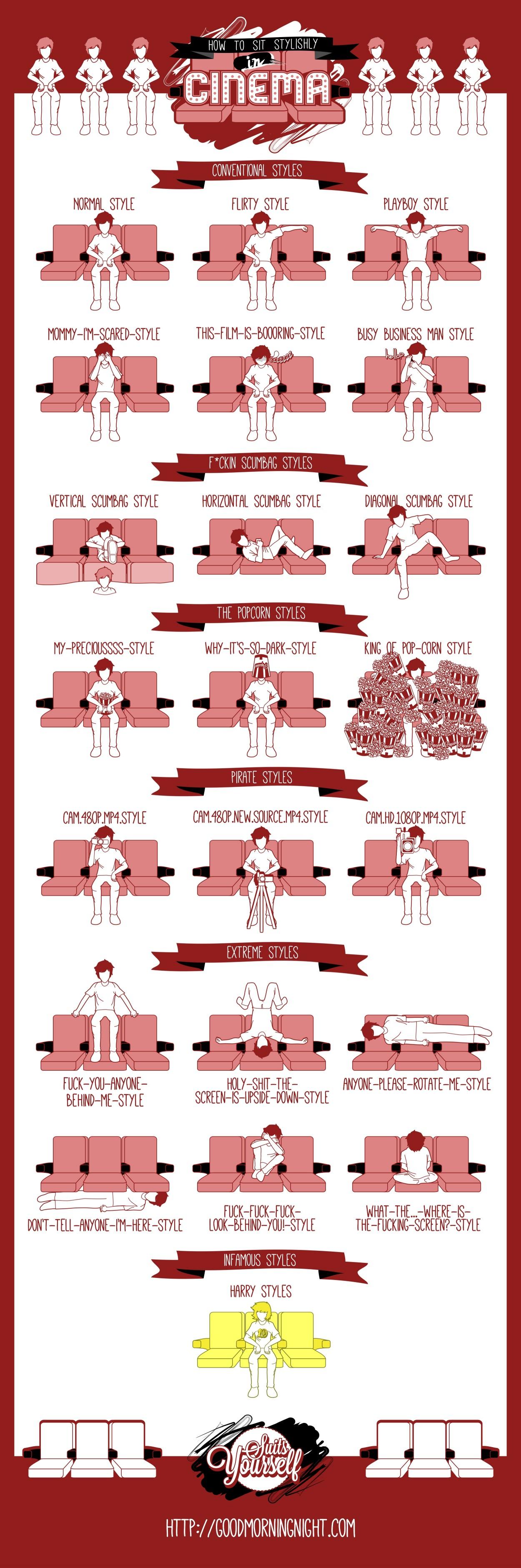 How To Sit Stylishly Cinema Hires