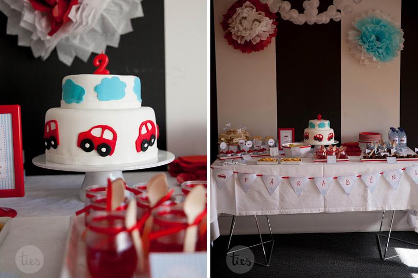 Temas e decoração de festas - carrinhos