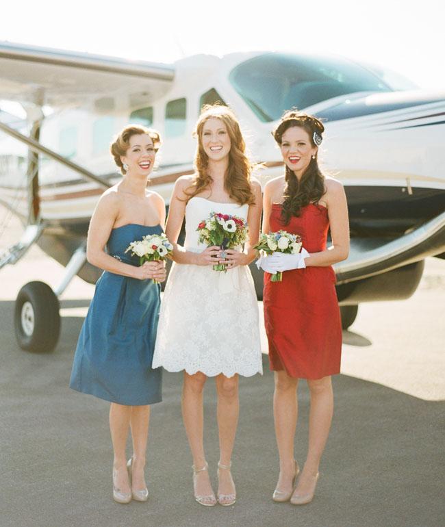 Brides, Bridesmaids & Blooms: Red, White and Blue Patriotic Bridesmaides