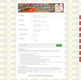 Imagem do formulário do concurso